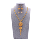 Gold Earring Jewellery Set 24K Gold Plated Necklace Pendant Earring For Women Indian Dubai African Wedding Party Bridal Gifts Jewelry Sets