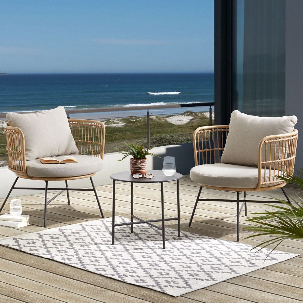 Modern Patio Chaise Lounge Pool Rope Woven Garden Wicker Rattan Chairs For Outdoor Restaurant Furniture