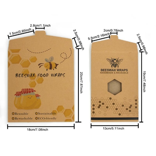 3 pack sustainable food storage wraps eco friendly reusable organic beeswax food wrap
