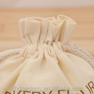 Large Unbleached Muslin Bags With Customized Printing