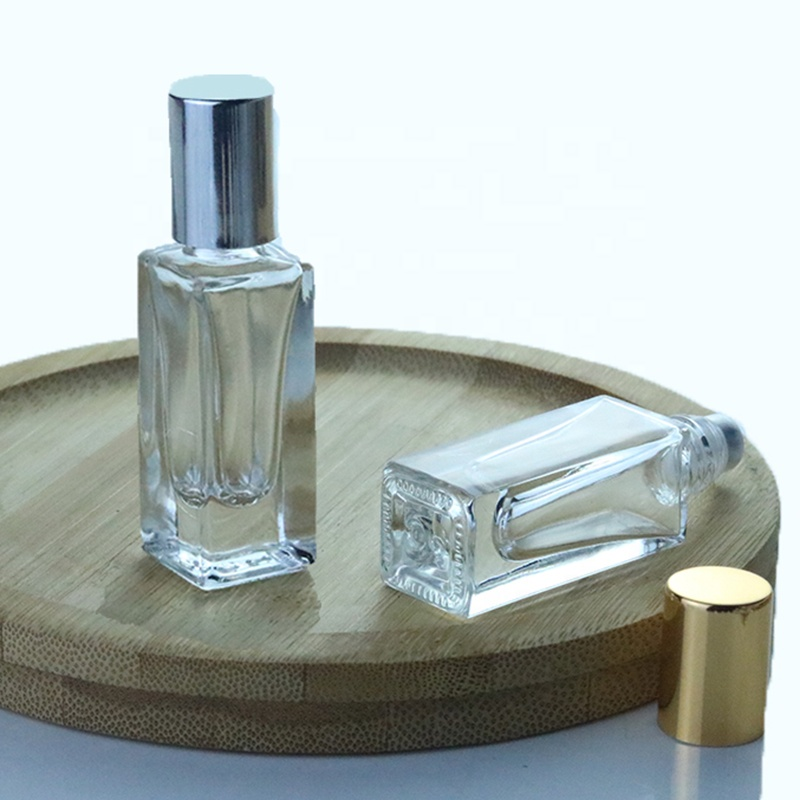 5 мл 10 мл mini square glass roll on bottle стальной роликовый шар парфюмерный флакон (NRB08)
