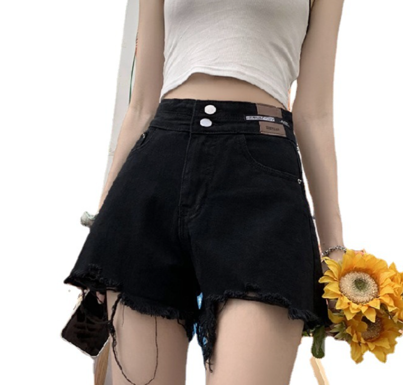 RD 2021 Summer Fashionable Ladies Blue Classic Vintage Torn Hole Ripped Skinny Denim Shorts  Women Jeans