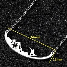 Мужские спортивные Чокеры Yiustar из нержавеющей стали, ожерелье для серфинга в волне, для спорта, клуба, подарка(Китай)