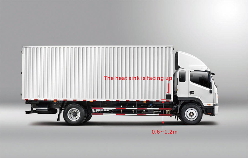 79-01R 79Ghz Truck blind spot detection system Microware Radar Monitoring and Warning System for Right Blind Area