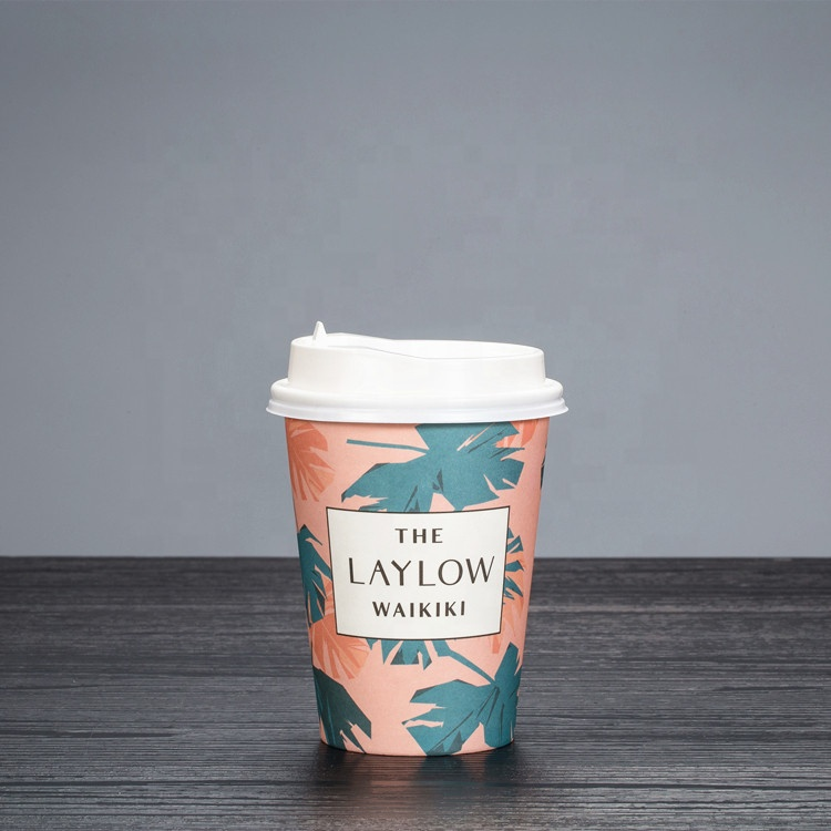 Packaging paper cup for hot drink coffee 4oz 8oz 12oz 16oz tea cup with logo