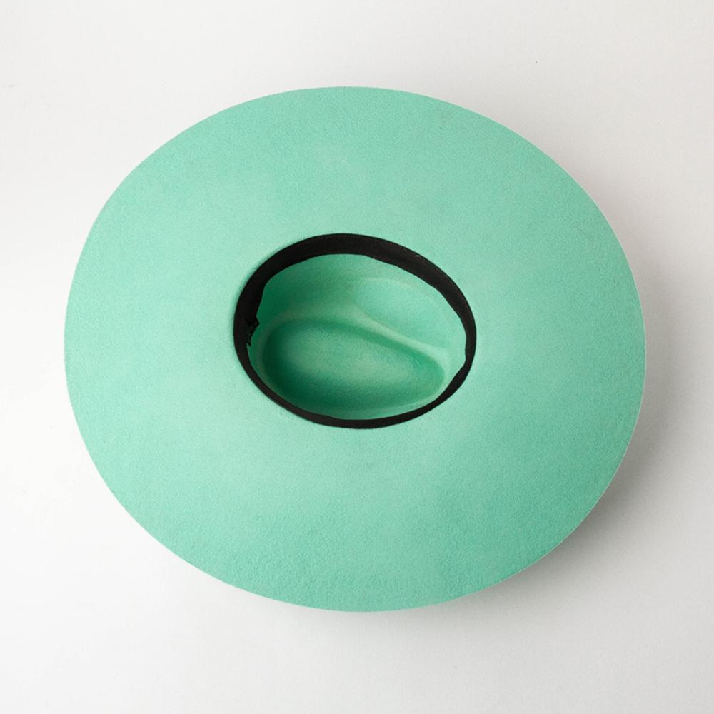 Shinehats OEM chapeau femme green fedora lady woollen fedora hats women wholesale 2021