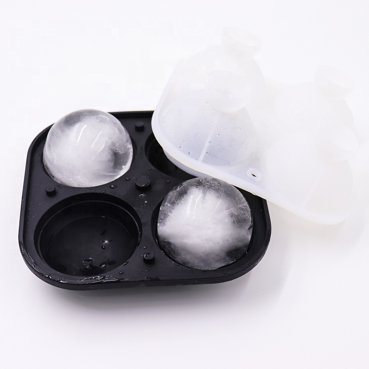 Custom Large Silicon Ice Ball Trays With Lid Bpa Free