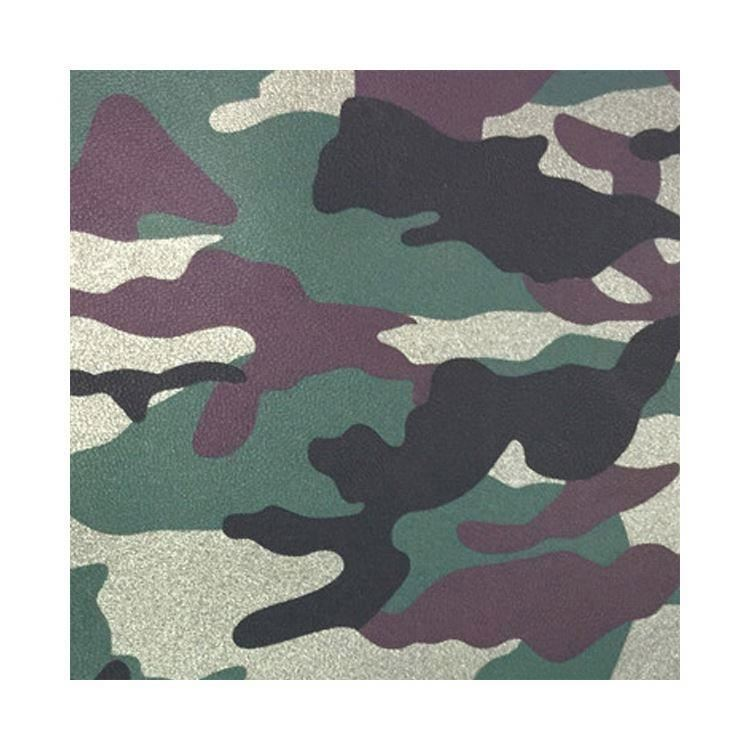 PU PVC Vinyl Camouflage Leather Fabric for bag/garment/furniture