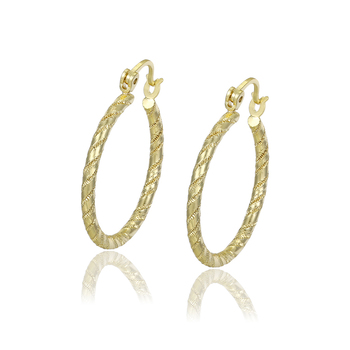 93715-1Xuping dubai simple jewellery women alloy earring fashion hoops 14k gold earrings+14 karat gold jewelry wholesale