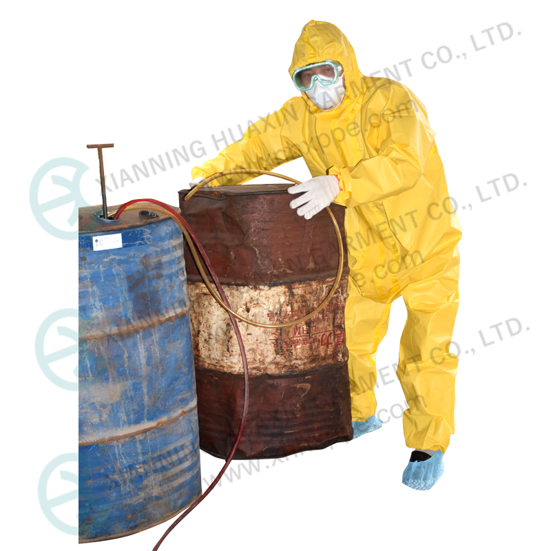 Oil Resistant Yellow Chemical Safety Overall Working Suits - KingCare | KingCare.net