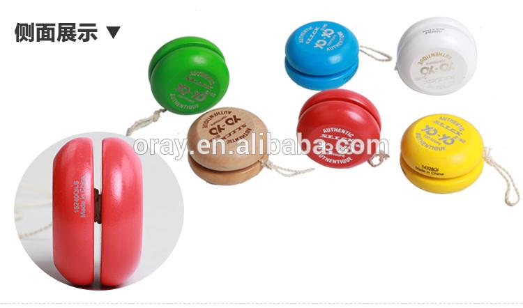 2019 пользовательский детский деревянный йо-йо смешной красочный йо-йо шар с линией Обучающие игрушки подарок для детей экологически чистый