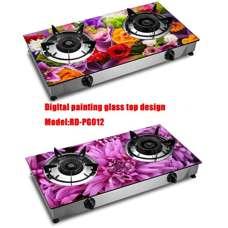 Special products made in china digital incredible ideal colored glass printing gas stove