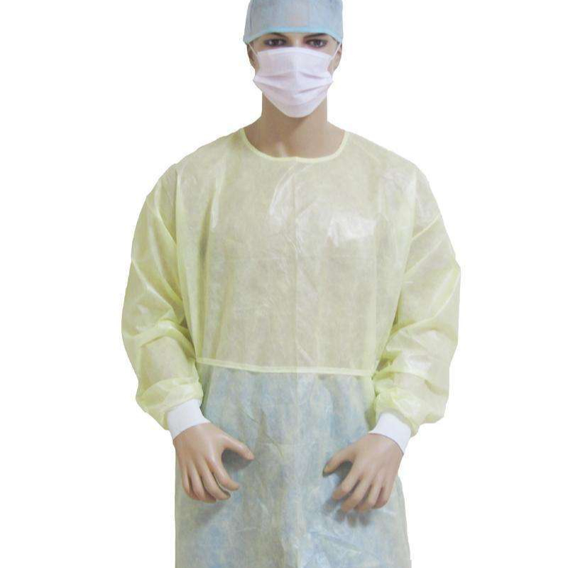 Waterproof Green Disposable Pe Film Coat PP Isolation Gown With Ce - KingCare   KingCare.net