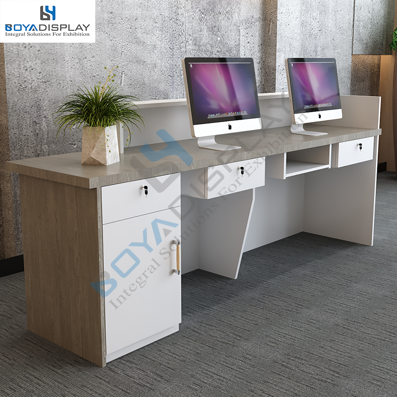 Hot Selling Product boutique furniture modern salon computer counter table reception desk