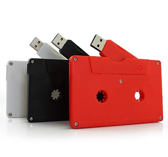 Wholesale Audio Cassette USB Stick White 2GB 32GB Capacity Casette Tape And Bulk Order Gift USB Cassette - USBSKY | USBSKY.NET