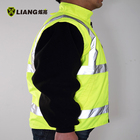 Coat High Visibility Fleece Jacket Two-tone Detachable Sleeve Elasticated Cuffs Reflective Coat Winter Safety Clothing Safety Jacket