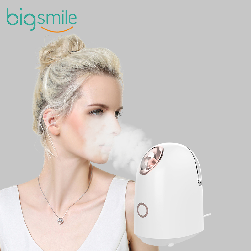 Паровой аппарат с большой улыбкой для домашнего использования, мини-паровой аппарат для салона красоты, паровой аппарат для горячего лица, нано-паровой аппарат для лица