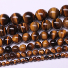 Natural Beads Round Stone Bead Factory Price Bulk Sale 8mm Round Gemstone Natural Brown Tiger Eye Stone Beads For Jewelry Making