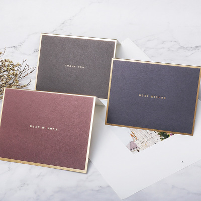 gold foil business card Small Greeting Card Name Card Envelope Hot Stamping Paper Mini Envelopes