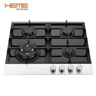 CE certificate household built-in hob with 4 burner gas cooktop