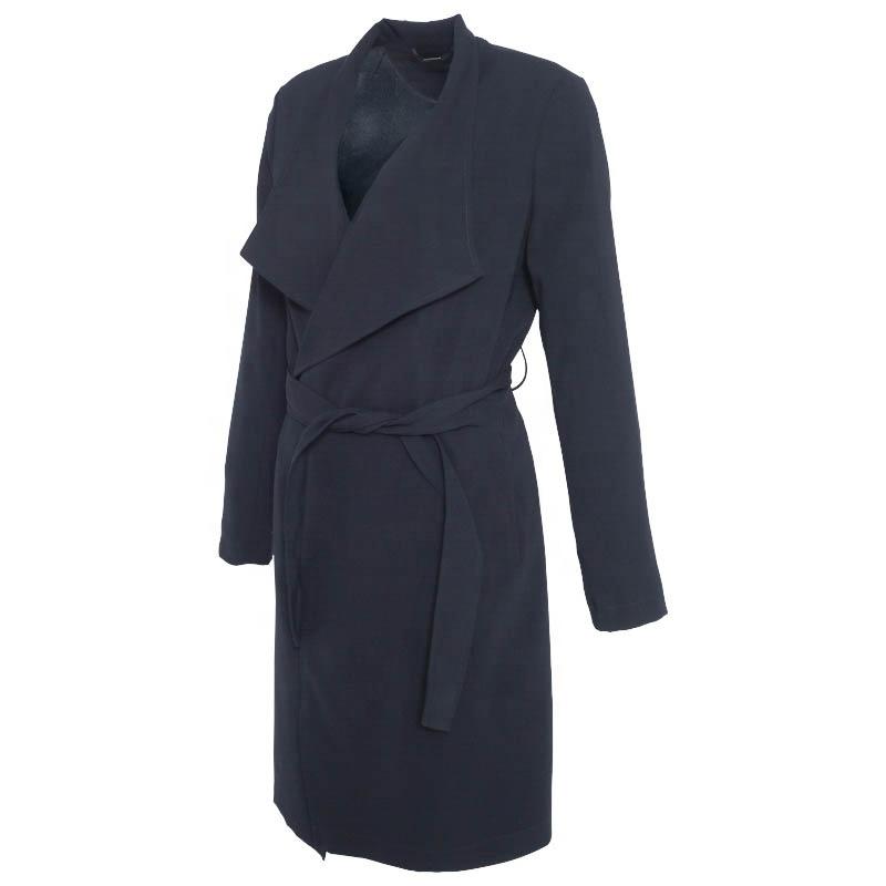 Huiquan, индивидуальный цветной Женский Тренч, новый дизайн, сделано в Китае, женское уютное повседневное пальто с открытой спиной