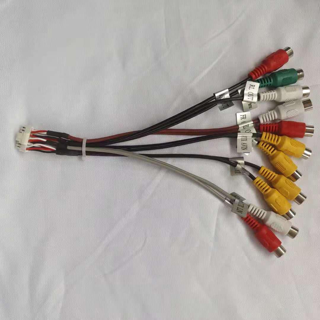 16pin RCA аудио линия Видео вход п усилитель мощности сабвуфер для автомобиля DVD плеер навигации