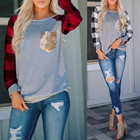 2021 New Design Fashion Female Long Sleeve Blouse Loose Sequin Ladies Tops And Blouses