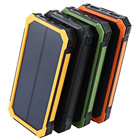 solar power bank 10000mah oem Power Banks waterproof wireless charger with LED Light solar charger