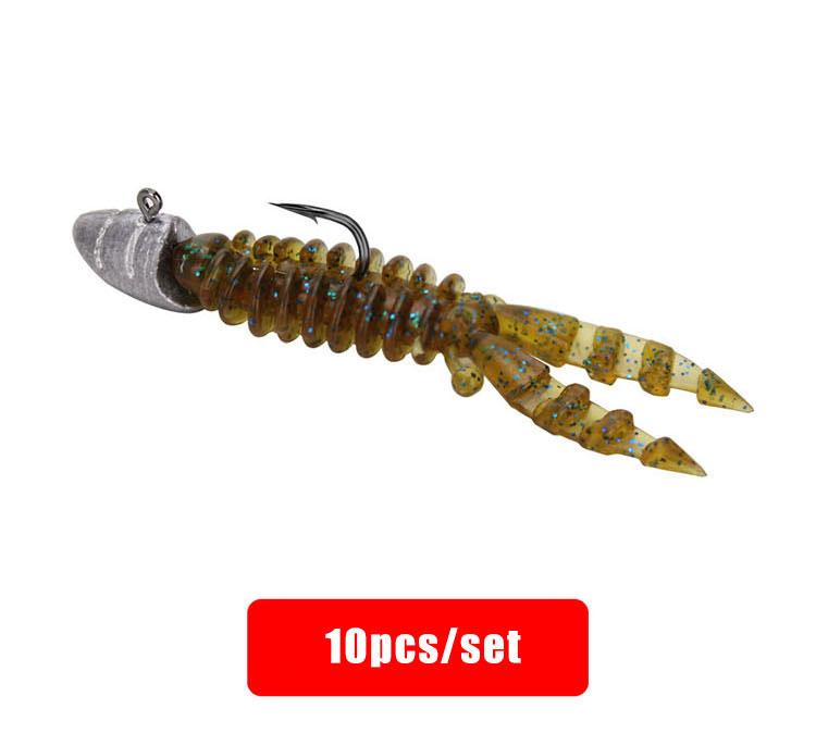 Wholesale Low Price Fishing Lure Kit Set Soft Bait Lead Head Hook Fishing Gear Set Fresh Sea Water Bait Maggot Soft Worm