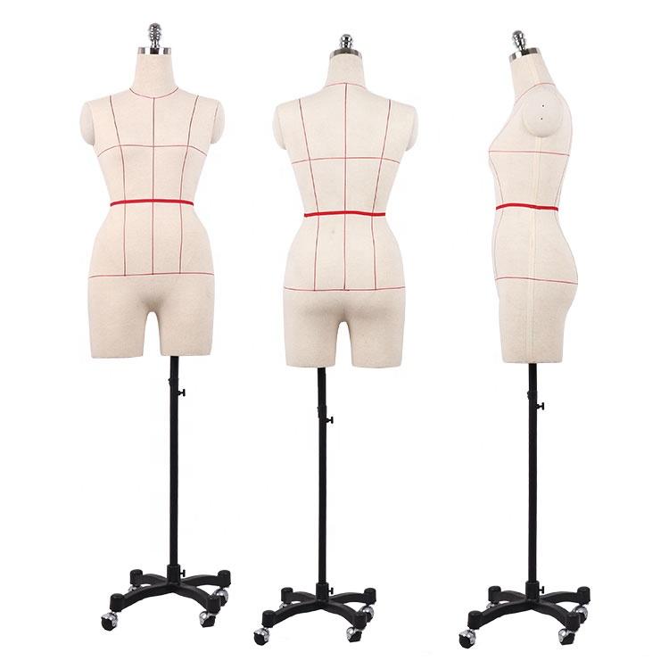 Регулируемый Половина тела ткань Женский Плюс Размер портные манекены