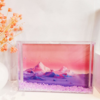 Factory Direct Sale Family Design 4*6 Acrylic Plastic Transparent Empty Insert Water Picture Frame for Photo