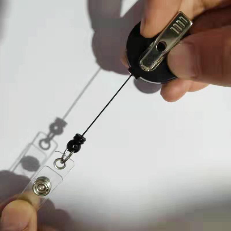 Оптовая продажа, Круглый держатель для ключей йо-йо, выдвижная пластиковая катушка для ключей с металлическим зажимом крокодил