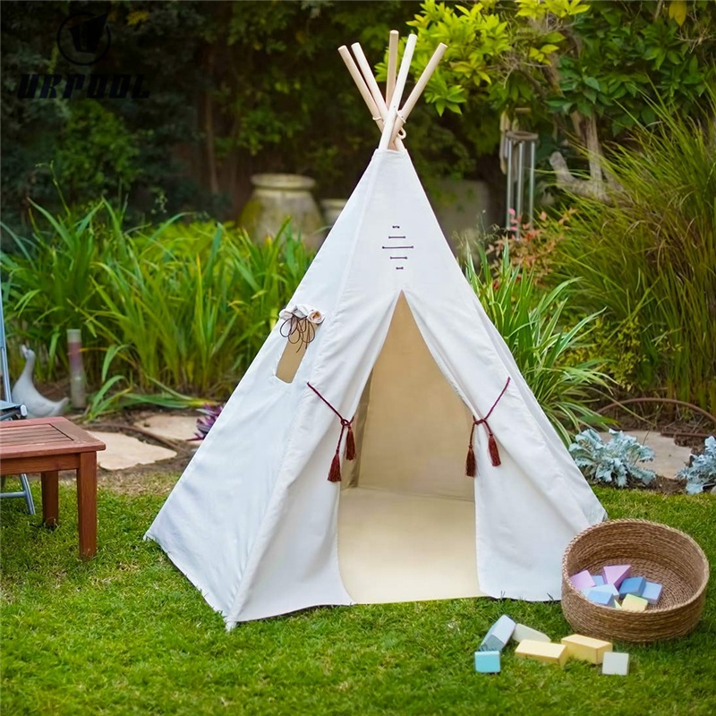 Portable Teepee Tent Kids Playhouse Sleeping Dome Children Play House with carry bag for indoor