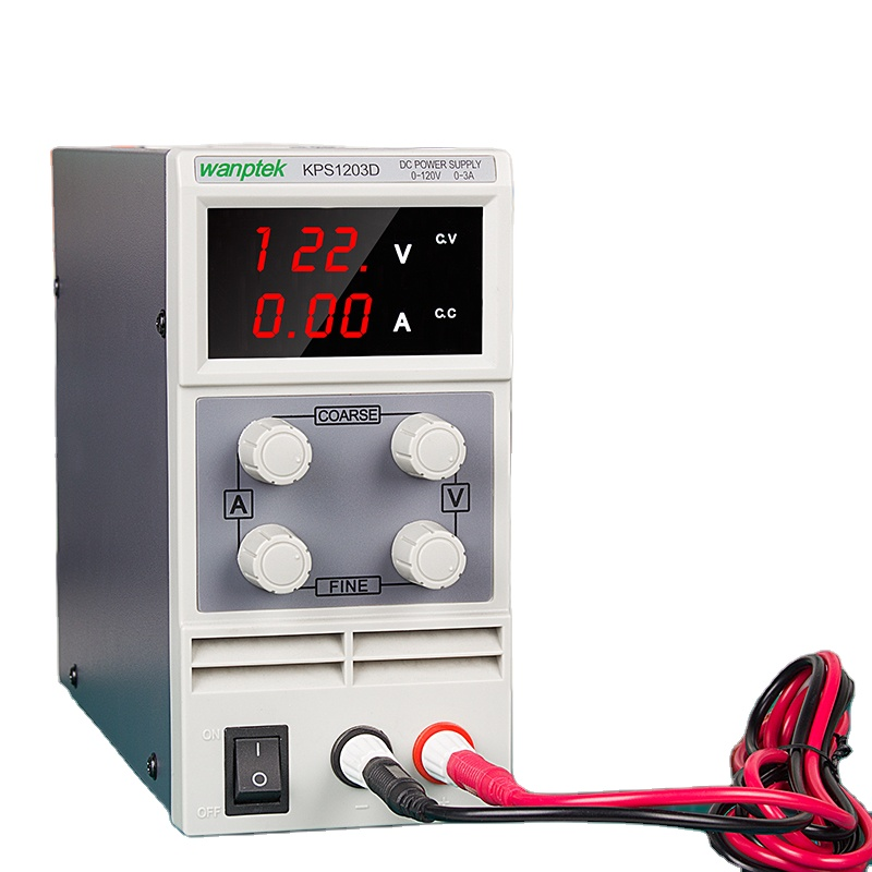 DC Power Supply Variable 0-120V KPS1203D 0-3A Adjustable Switching Regulated Power Supply with Power Cord Double Digital Display 110V