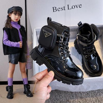 Ботинки Martin для девочек, Новинка весна-осень 2021, модные короткие ботинки в британском стиле для девочек, детские кашемировые ботинки