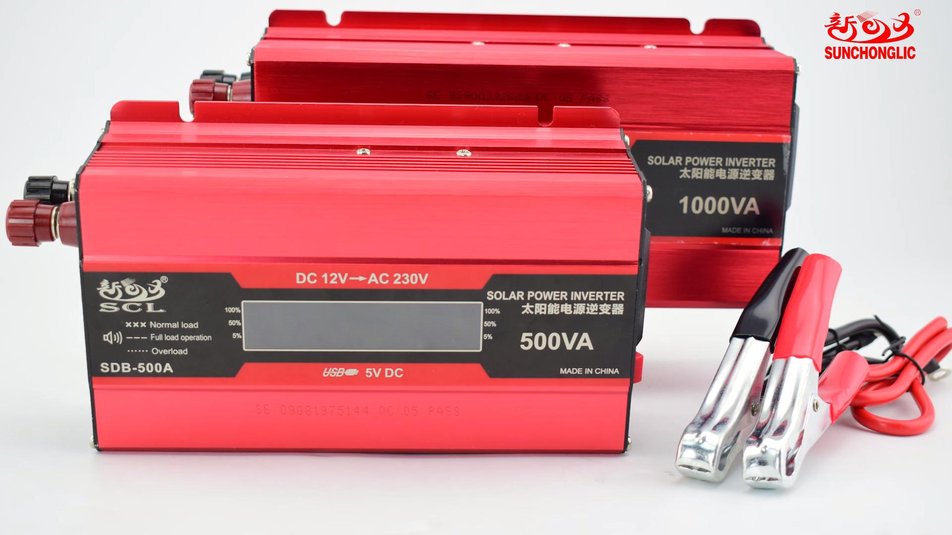 Sunchonglic 500W 12V 220V 수정 사인파 인버터