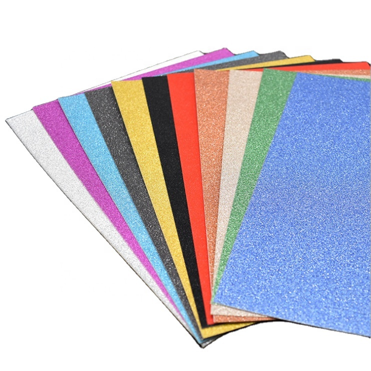 Productive color-customization glitter paper card for DIY