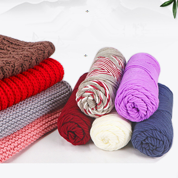 Dyed Crochet Yarn Bony Cotton Yarn for Knitting Scarf Wool Handmade Yarn