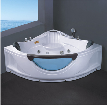 YJ5006 Acrylic Large size corner bathtub luxury sex hydro massage whirlpool bath tub with tv