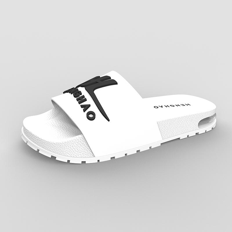 Factory Direct Super Soft slides custom logo PU custom slides men footwear sleeper hotel slippers custom logo