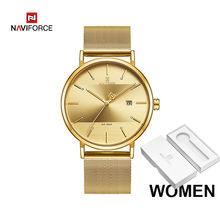 Парные часы NAVIFORCE, мужские часы, простые Роскошные Кварцевые наручные часы, женские часы для мужчин и женщин, водонепроницаемые тонкие часы ...(Китай)