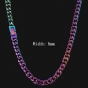 8mm Rainbow color necklace