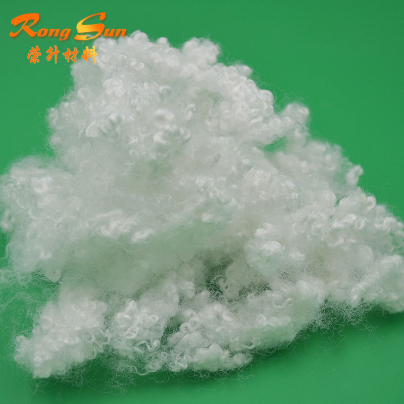 Virgin grade Wholesale silicone polyester fiber fill with 0.8D to 15D for poly fill pillows