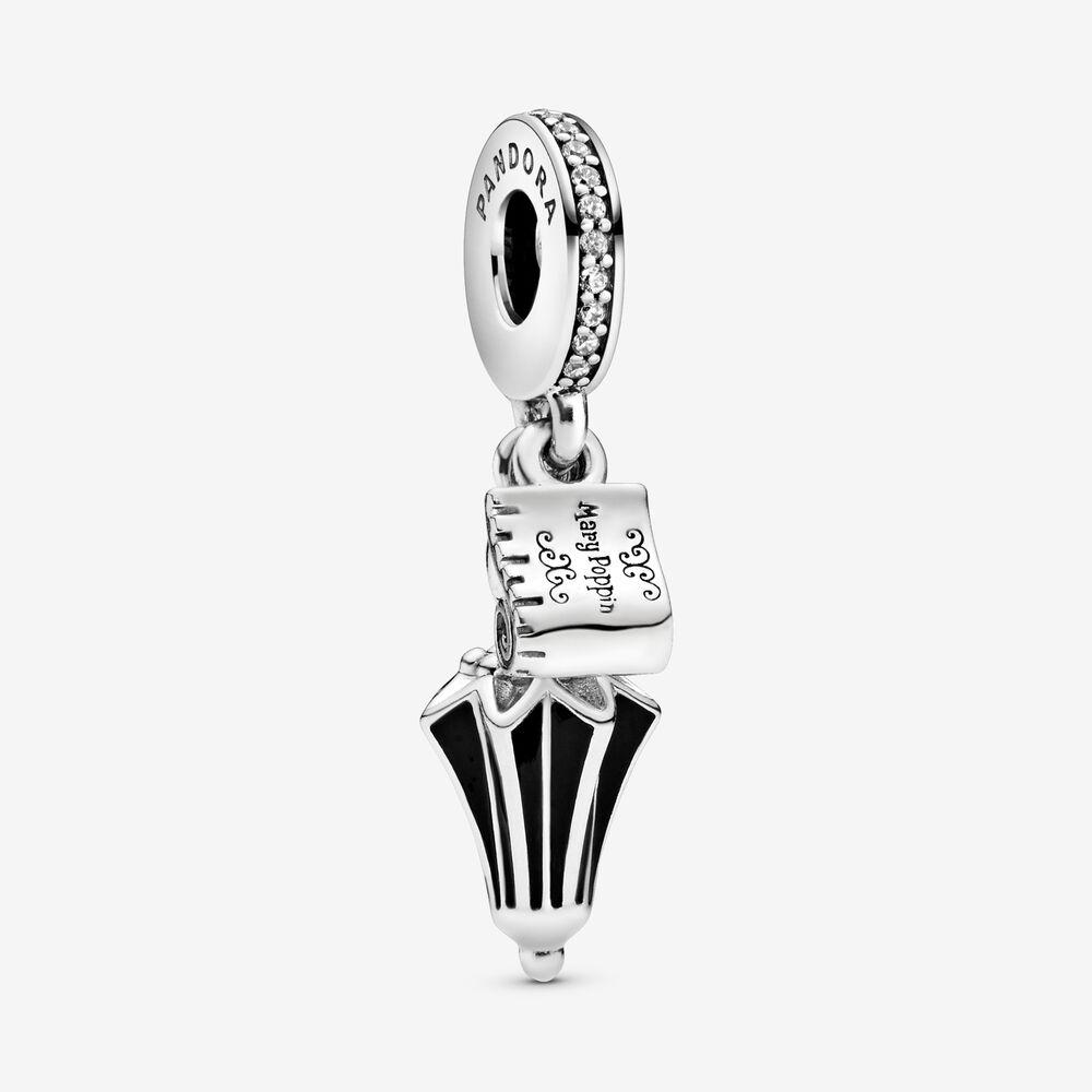 925 Sterling Silver Mary Poppins Umbrella Dangle Clear Cz &black Enamel  Charm Bead Fits European Pandora Jewelry Charm Bracelets - Buy Women Charm  ...