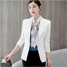 Черный Женский блейзер 2020, формальные блейзеры, Женский офисный костюм, куртки, пальто, тонкий черный женский Блейзер, женские куртки(Китай)