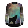 wolf print long t