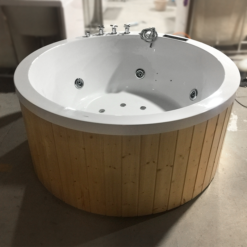 Luxury Outdoor Spa Whirlpool Massage Jets Round Hot Tub New Technology Portable White Spa Outdoor Bathtub Wood Buy Outdoor Round Hot Tub Whirlpool Massage Outdoor Bathtub Wood Outdoor Outdoor Bathtub Wood Product On Alibaba Com