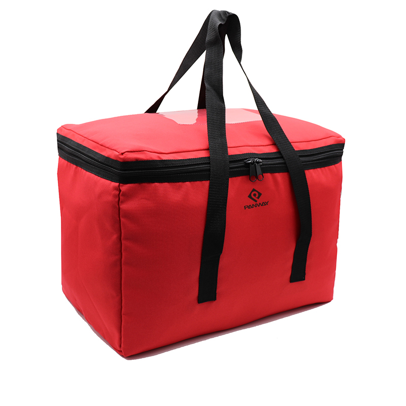 Food delivery bag OEM custom Keep warm insulated thermal fast food cooler lunch box delivery bag