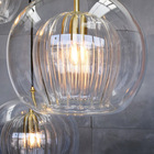 Lights Ball Decoration Modern Pendant Lamp Bedroom Lights Led Chandelier Luxury Round Pendant Glass Ball Decoration Hanging Lamp