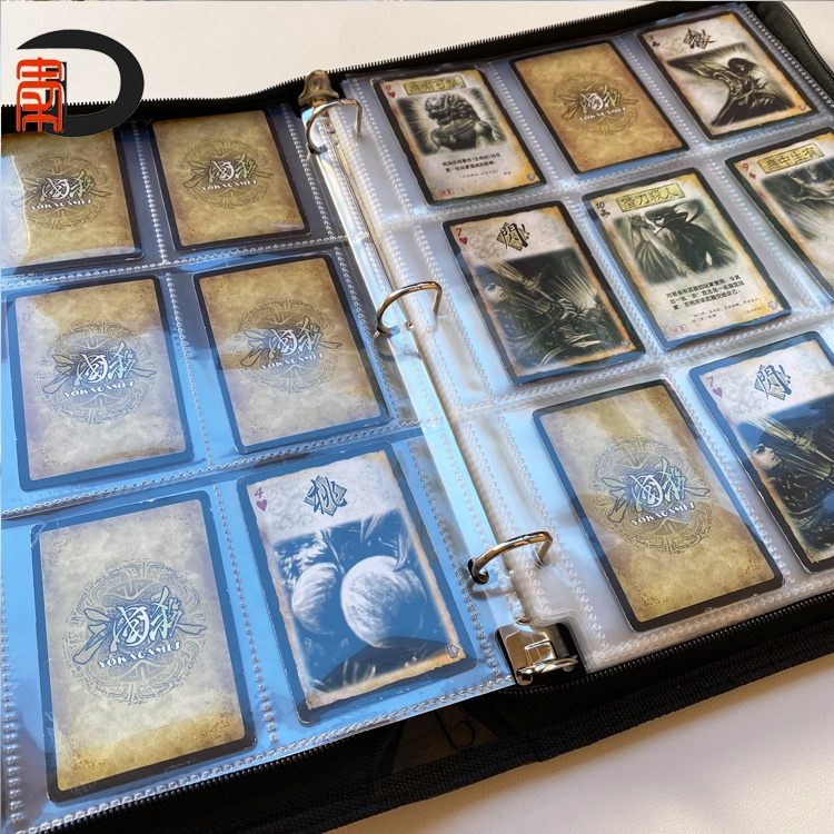 9-Pocket Zipper Collector Card Album With sleeve, Carrying Case Binder Card Trading Binder with 18-Pocket sheets